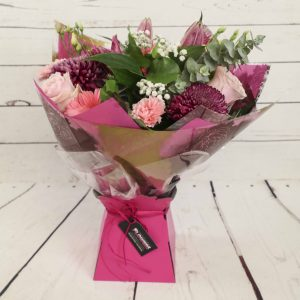 Churchview Flowers - Florist Choice Pretty in pink Handtied