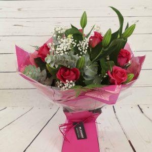 Churchview Flowers - Lily & Rose Bouquet